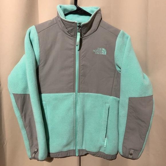 7ad6372b8 Girls' Denali mint blue north face jacket